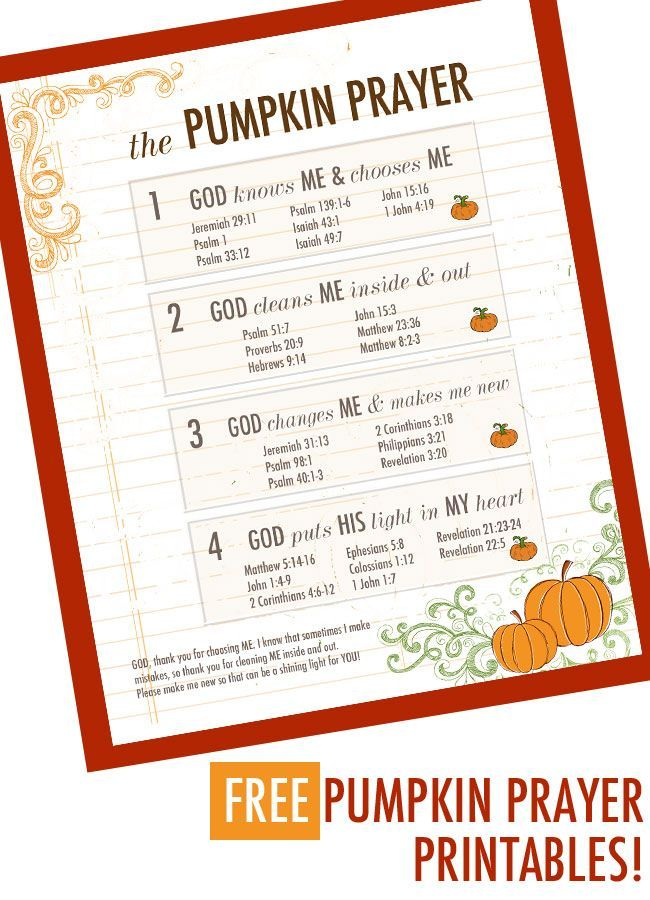 How To Teach Your Kids The Pumpkin Prayer Bible Lessons Sunday