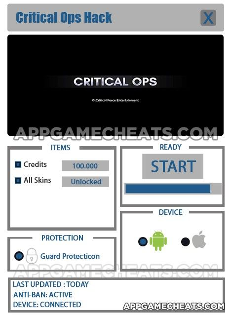 Critical Ops Hack Tips Cheats For Credits Skins Hacks Download Hacks Tool Hacks