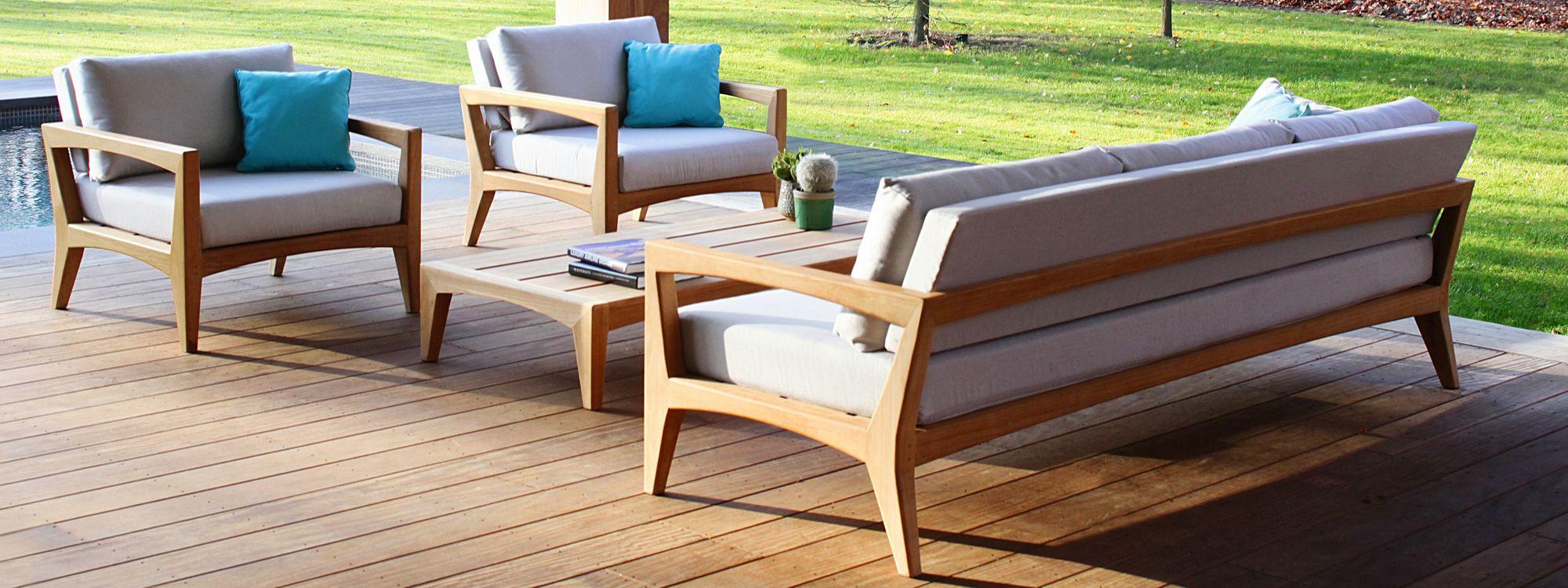 Royal Botania Zenhit Teak Garden Sofa Modern Teak Furniture Outdoor Furniture Outdoor Lounge Outdoor Furniture Sets
