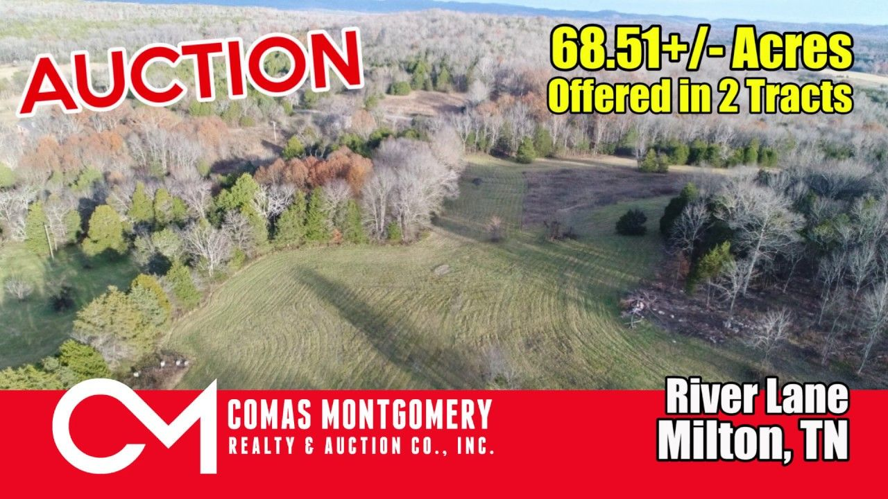 68 51+/- Acres of Land For Sale Offered in 2 Tracts - Farm