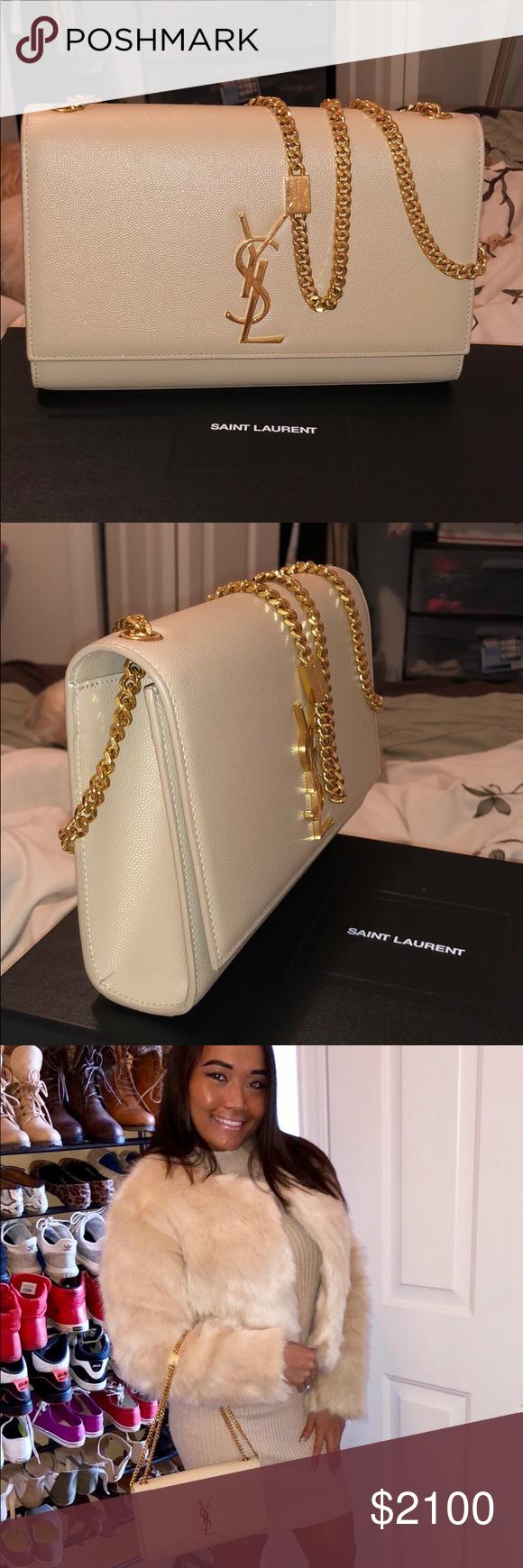 SAINT LAURENT Kate small velvet shoulder bag (With images