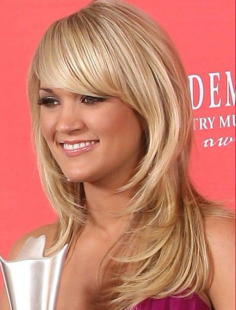 Carrie Underwood Long Straight Hairstyles 2012