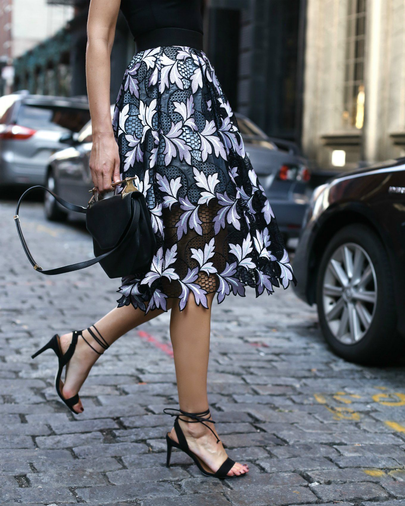 Lace Midi Skirt and Black Bodysuit   MEMORANDUM, formerly The Classy Cubicle