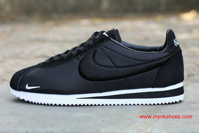promo code 52799 711b5 ... Womens Nike Cortez Embroidery BlackWhite Shoes ...