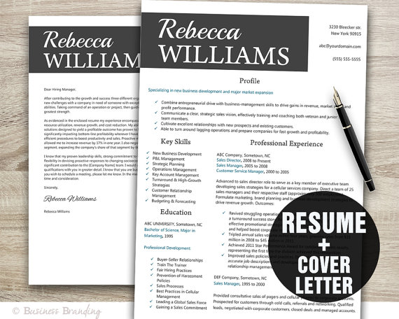 Istant Buyer Resume | Creative Resume Template Instant Download Resume Cover Letter