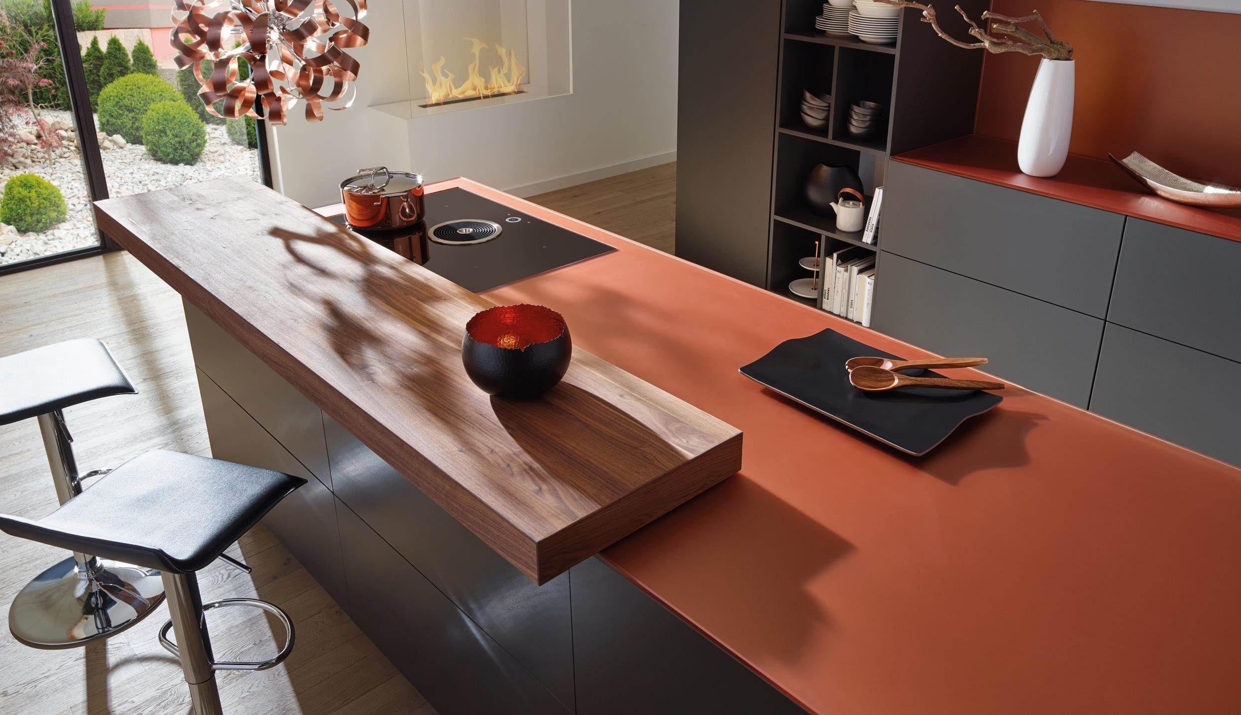 Küchenarbeitsplatte aus Glas, Design: Copper | Küchenarbeitsplatten ...