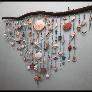 Beautiful handmade Driftwood Seashell Wall Decor
