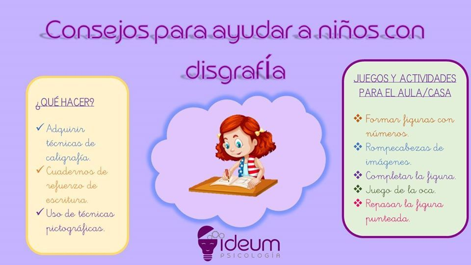 Consejos Para Ayudar A Niños Con Disgrafía