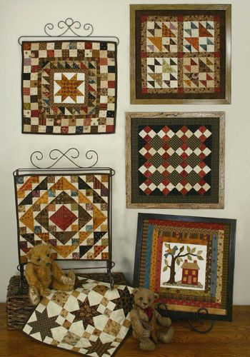 Quilt Squares #5 is a series of small quilts. Frame the quilts using ...