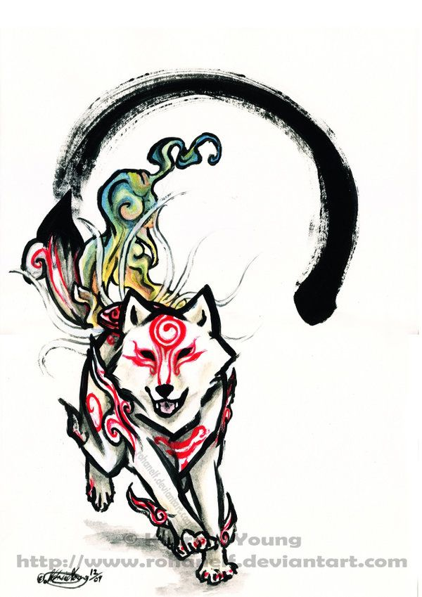 Shiranui Okami Style Okami Amaterasu Game Art