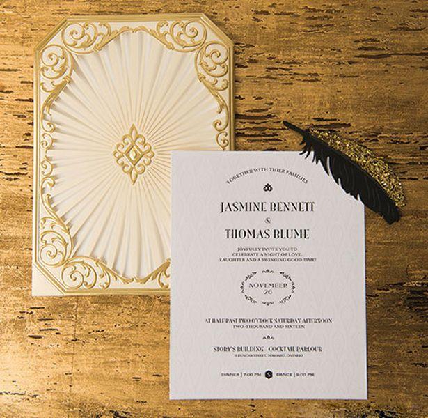 Art Deco Great Gatsby Wedding Inspiration Gatsby Art Deco Wedding