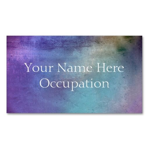 Professional Soft Blue Purple Grunge Business Cards. #BusinessCards