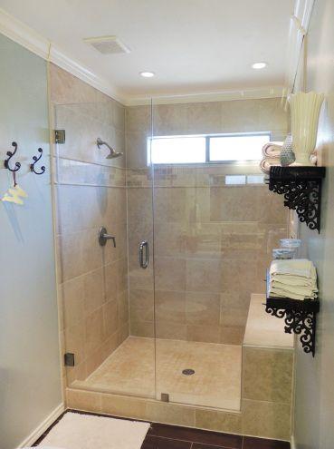 the bathroom saga: the reveal! | shower doors, frameless