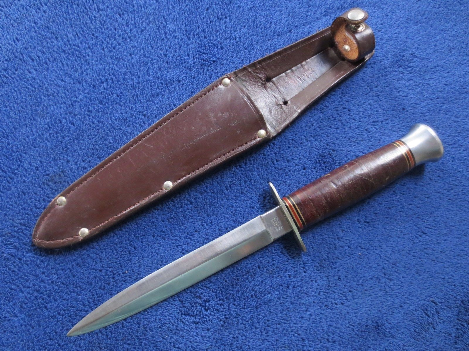 Vintage british fairbairn sykes style knife sheffield commando ...