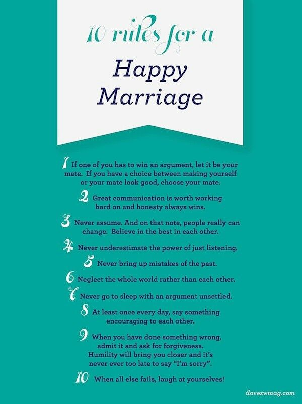 10 Rules For A Happy Marriage Happy Marriage Quotes Happy Marriage Marriage Quotes