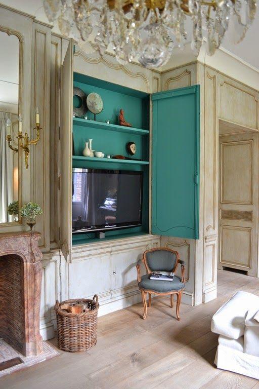 hide tv furniture. Great Tv Cabinet And Daring Color! Hide Furniture