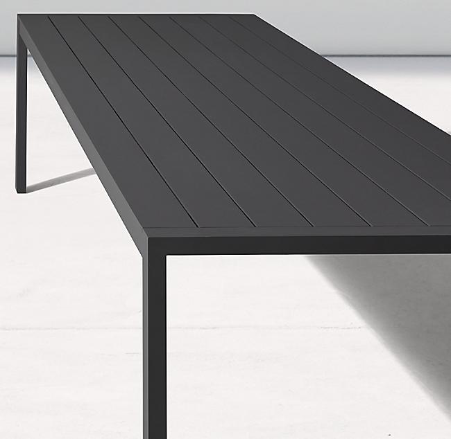 Aegean Aluminum Rectangular Dining Table Modern Dining