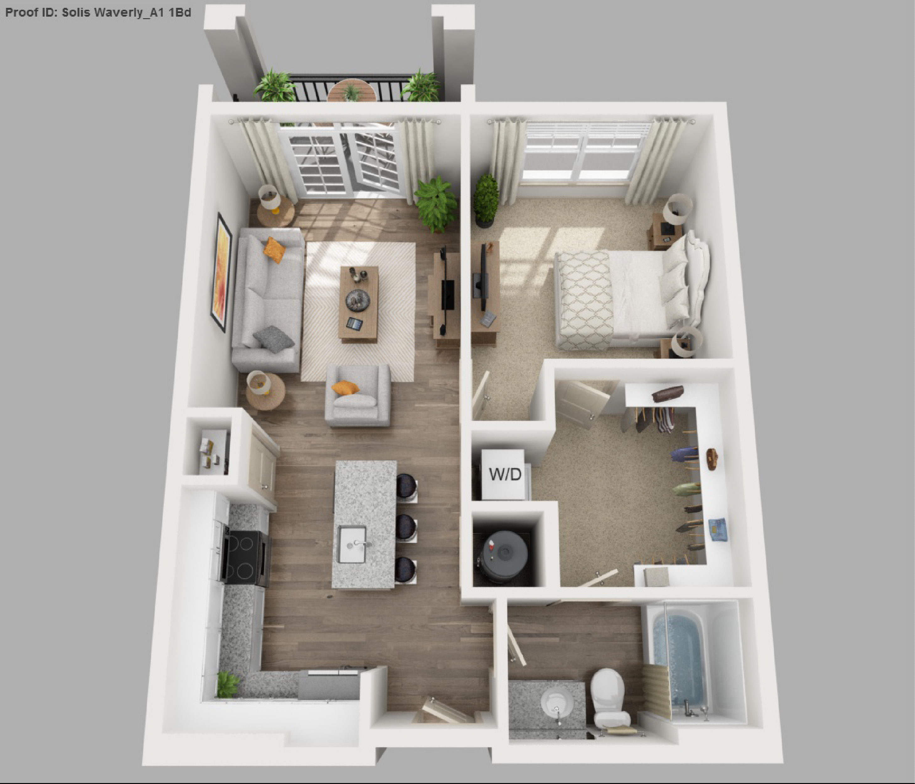 Image Result For 1 Bedroom 3d Floor Plan Small Apartment Floor Plans Studio Floor Plans Studio Apartment Floor Plans