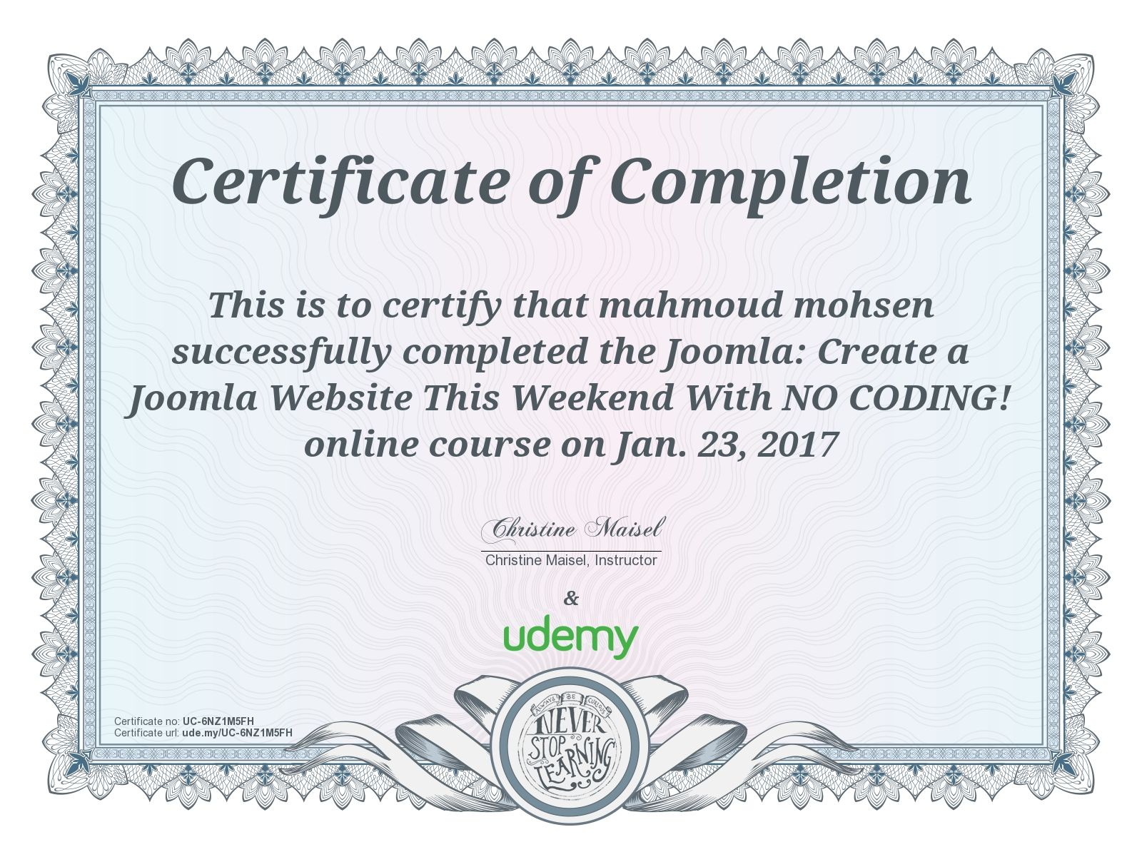 Pin by mahmoud mohsen on certificates pinterest certificate completion certificate for figurine modeling with autodesk meshmixer 1betcityfo Image collections
