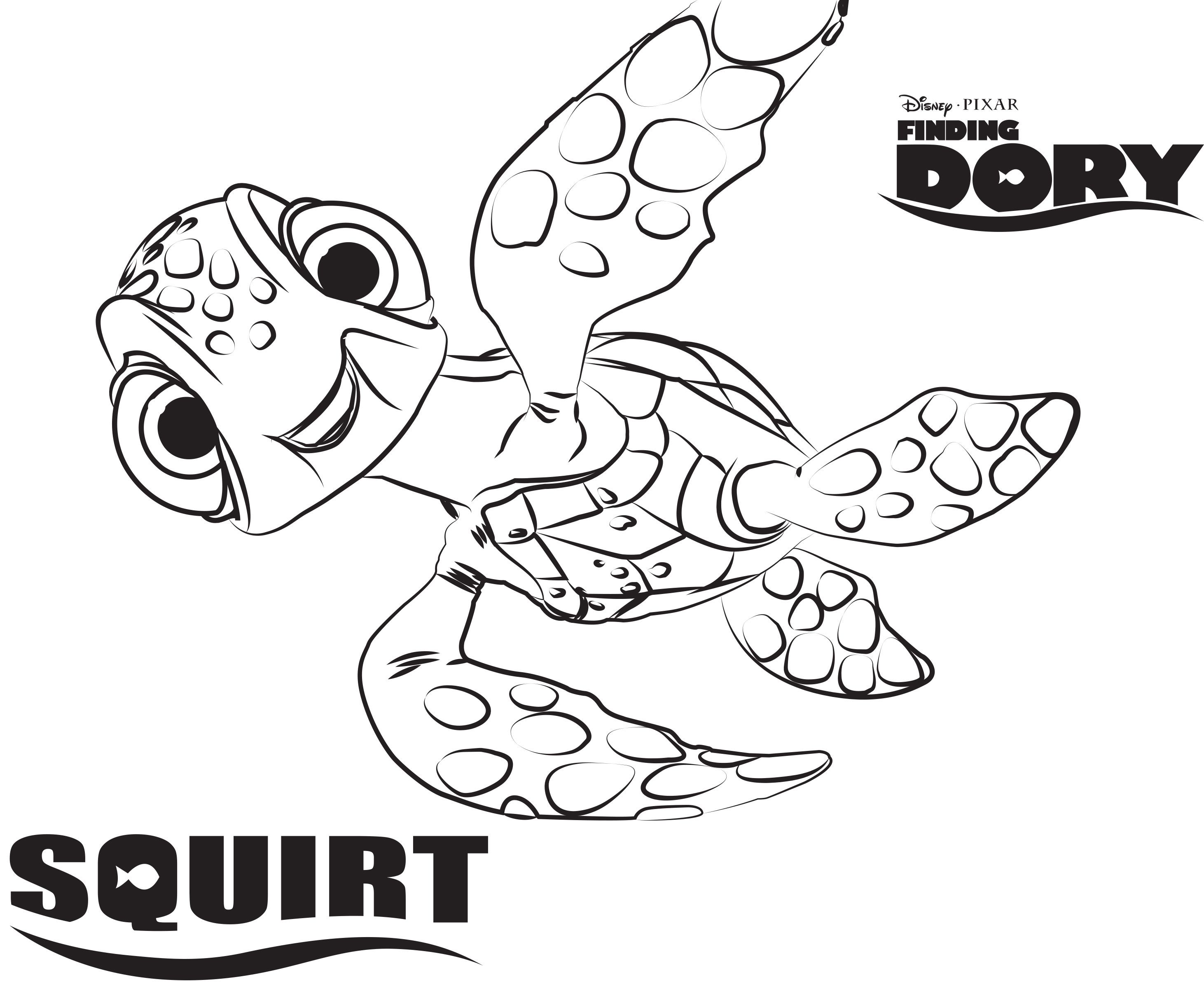 Disney\'s Finding Dory Coloring Pages Sheet, Free Disney Printable ...