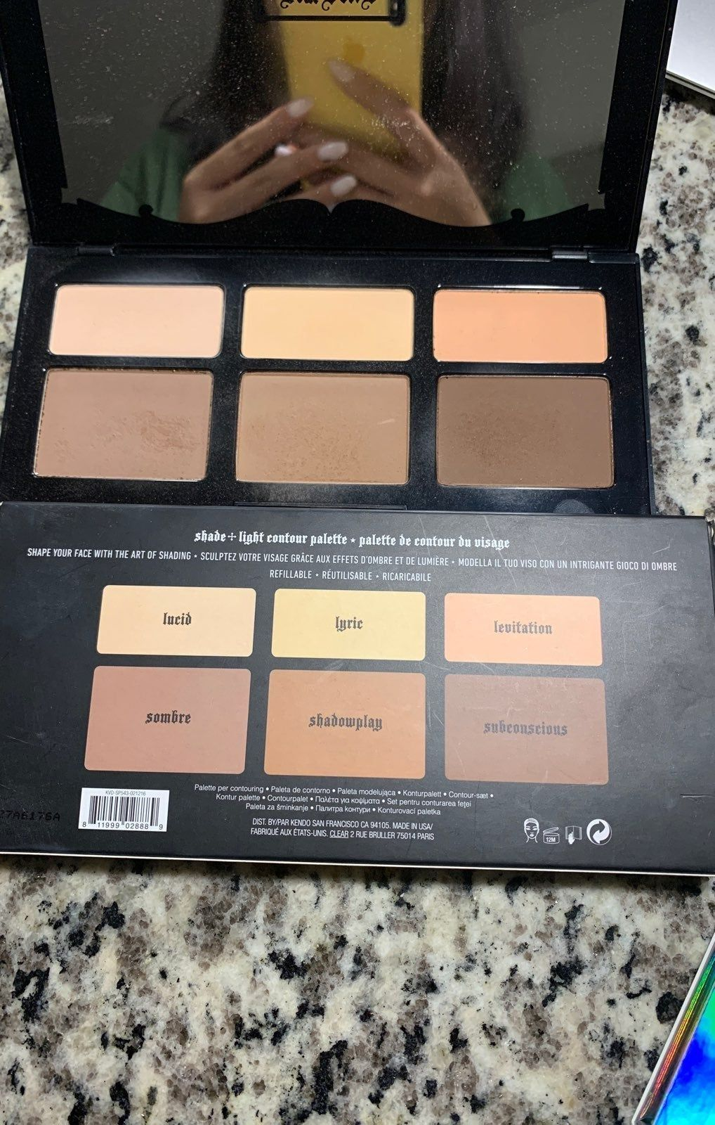 Lightly Used With Box Nice Sleek Package Bought From Sephora At 49 Shade And Light Palette Kat Von D Makeup Lit Palette
