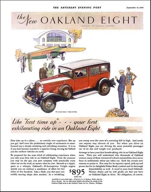 1930 Oakland Custom Sedan 70s Cars Retro Vintage Travel