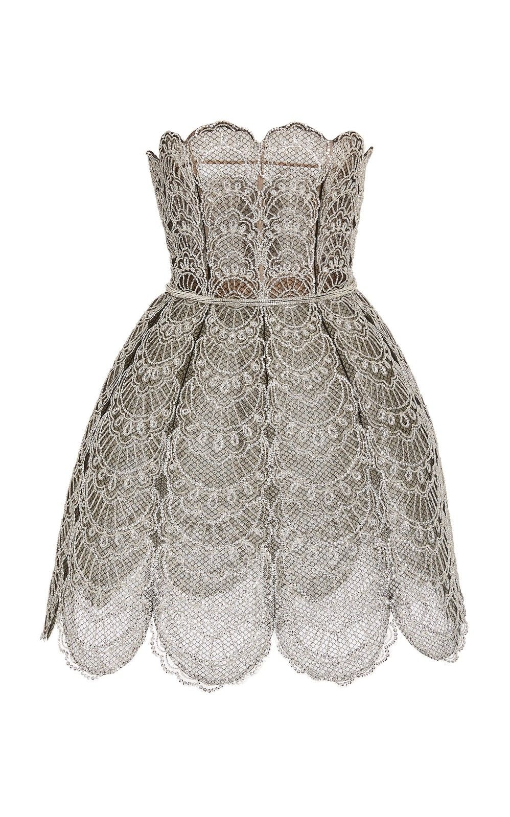 Broderie Strapless Dress by Oscar de la Renta   Moda Operandi – Fancy