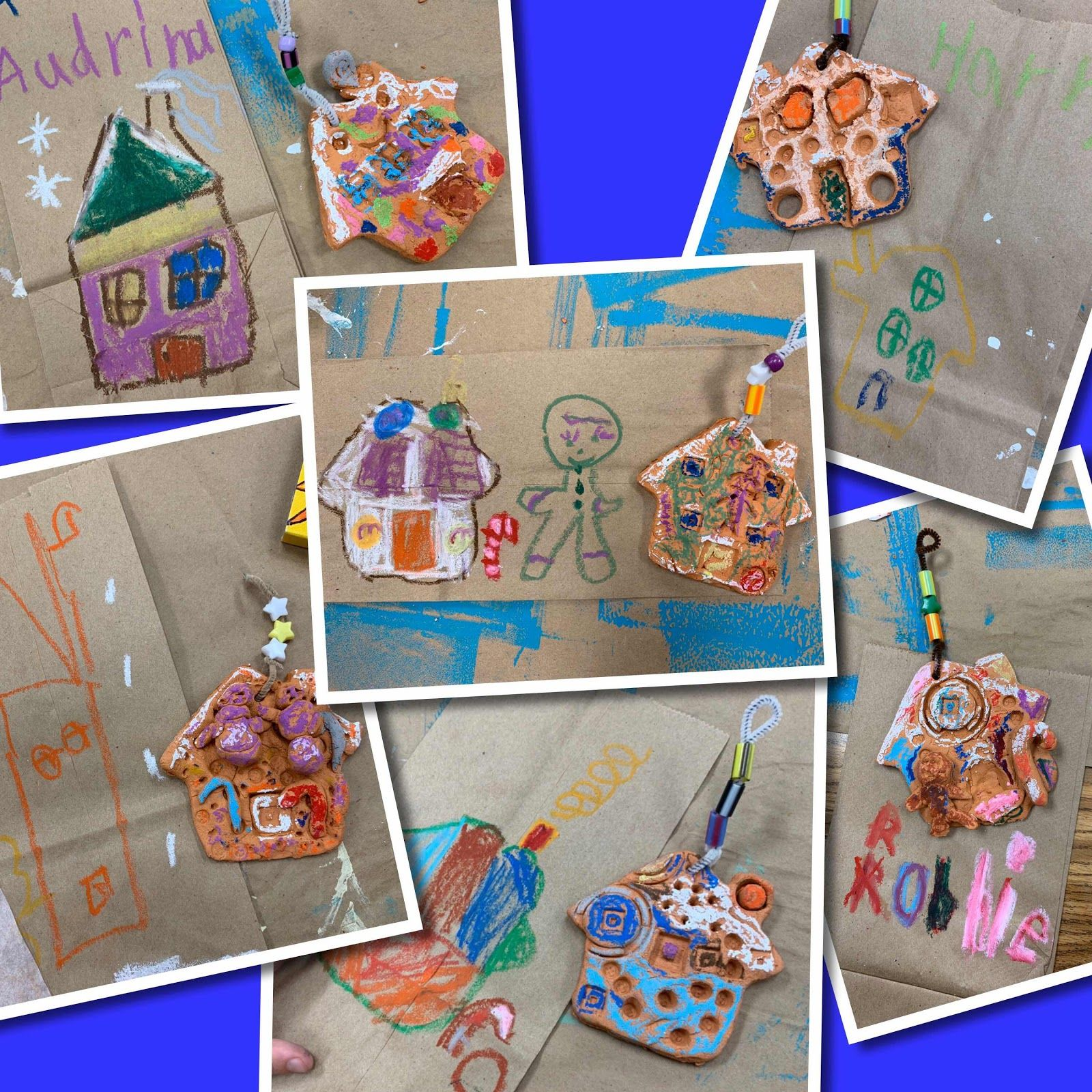 Kindergarten Clay Gingerbread Houses