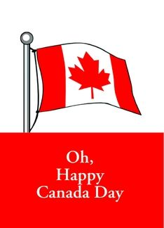 Oh canada day with canadian flag and maple leaf greeting card oh canada day with canadian flag and maple leaf greeting card reheart Images
