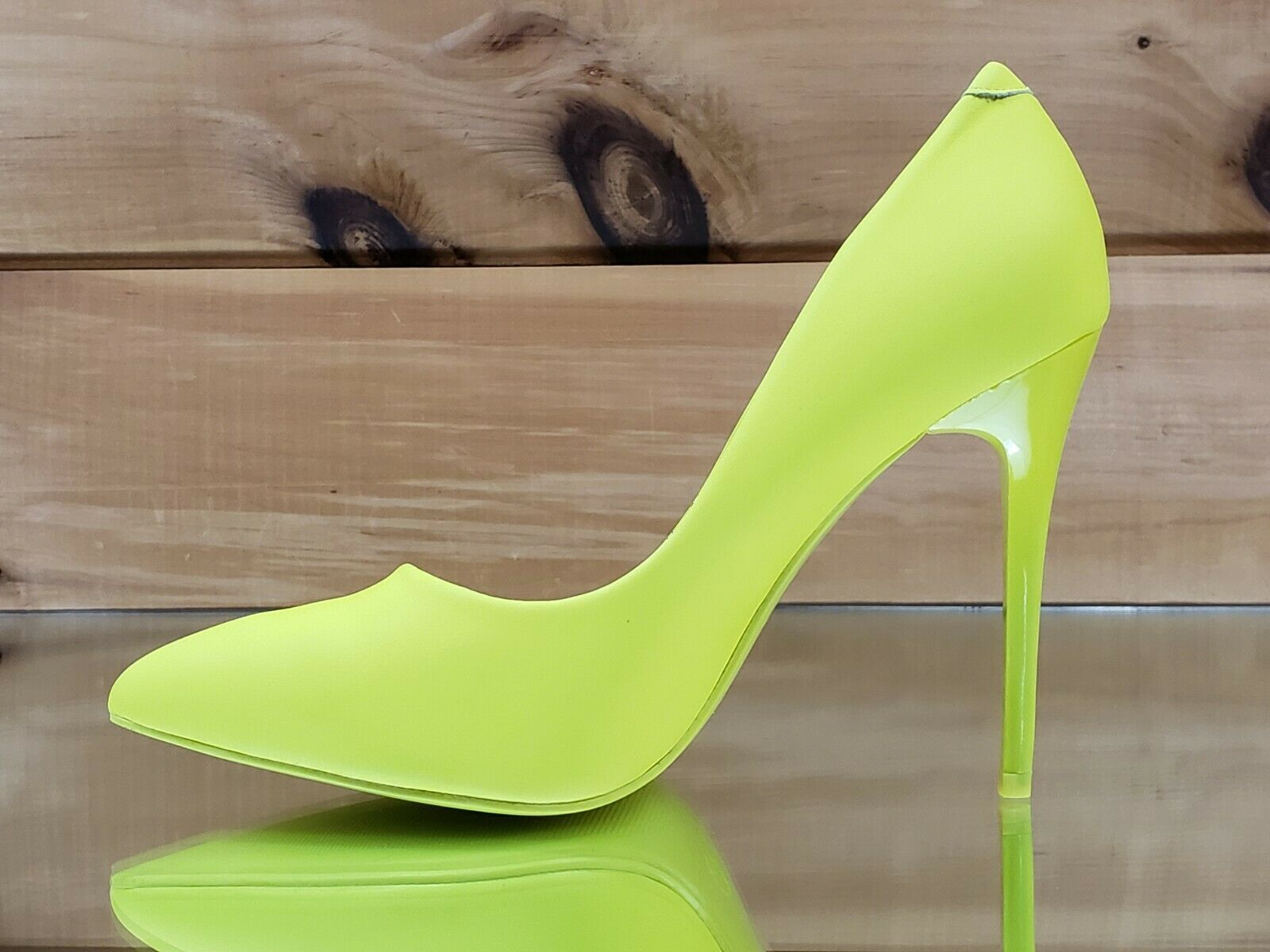 Fabio Lime Neon Yellow 4 5 High Heel Shoes Pointy Toe Pump 7 11 Heels Pointy Toe Pumps High Heel Shoes
