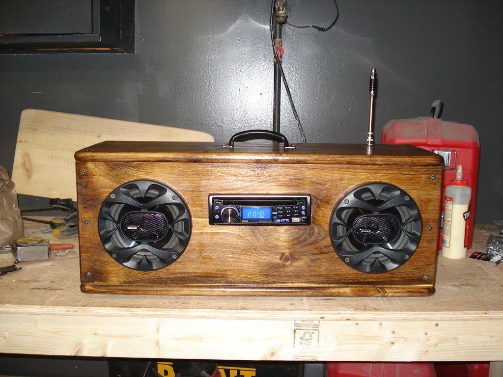 Diy Car Audio : How to make a camping radio radios speakers and diy