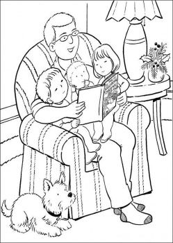 Reading With A Parent I Have So Many Wonderful Memories Of My Parents Reading To Fathers Day Coloring Page Christmas Coloring Pages Free Kids Coloring Pages