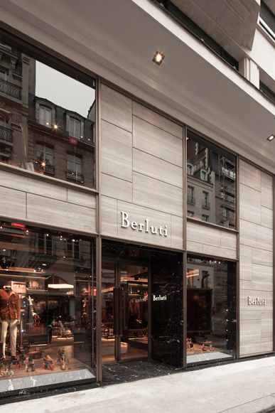 Berluti Paris Faubourg Saint Honore Works Curiosity キュリオシティ Shop Front Design Shop Facade Retail Facade