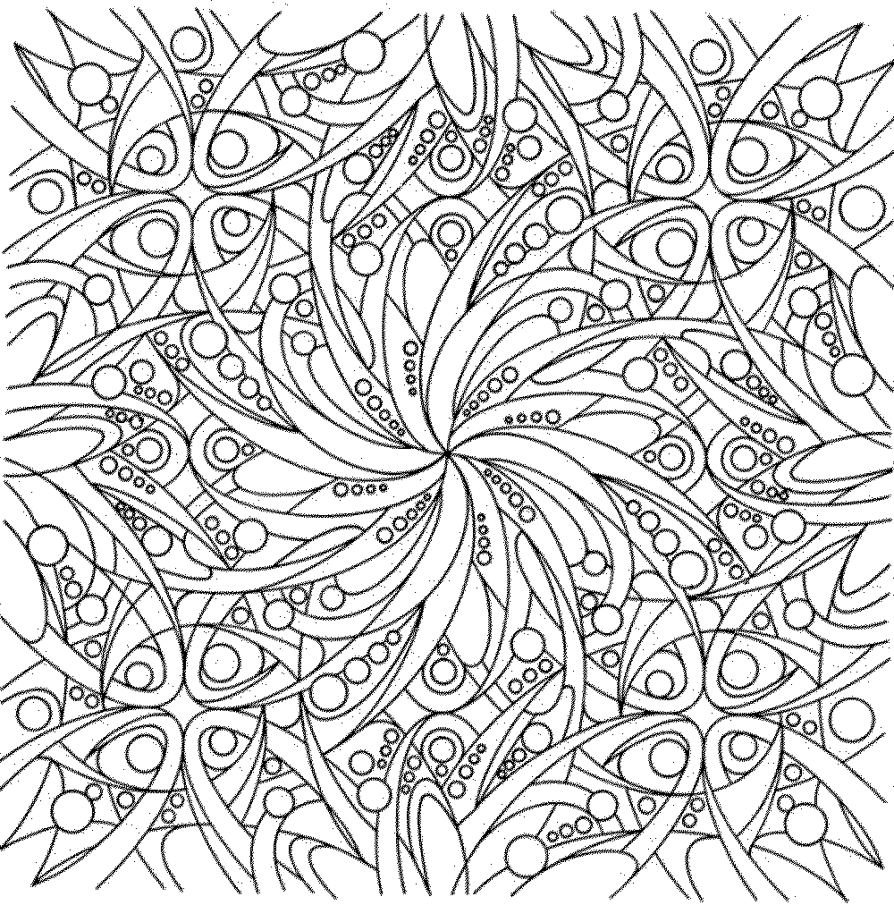 Abstract flower coloring pages - Coloring Pages Of Flowers For Adults
