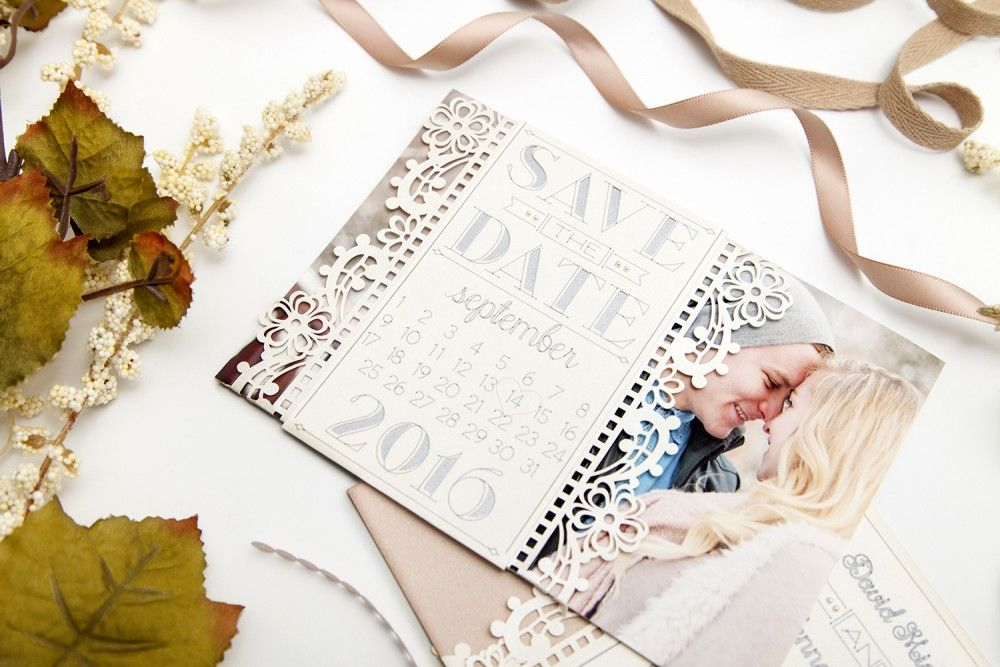 your debut as two save the date cards  cricut  vintage