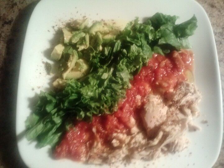 Mexican fiesta tuna salad with extra virgin olive oil and red pepper flakes