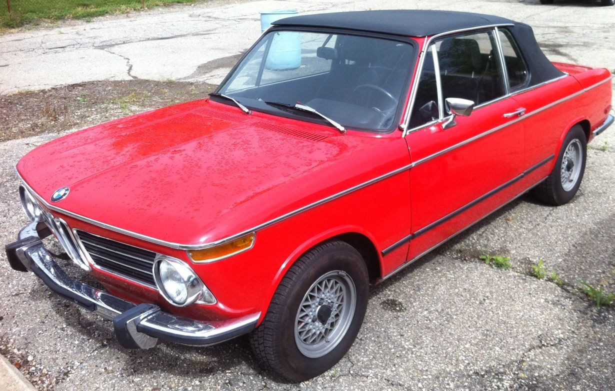 '72' BMW 2002 Tii Cabriolet. First time we serviced a