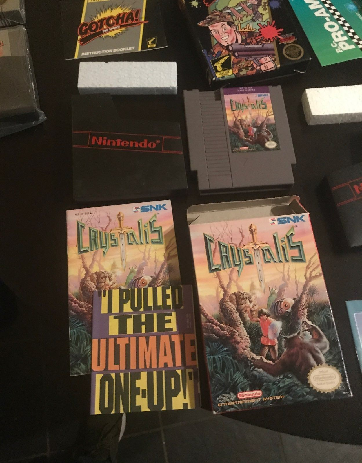 Nes Crystalis Complete In Box Asking 50 Video Games Nintendo Nes Video Game