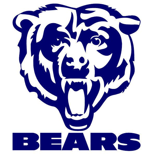 chicago bears logo stencil halloween pinterest bear logo rh pinterest com chicago bears helmet clipart free chicago bears clipart
