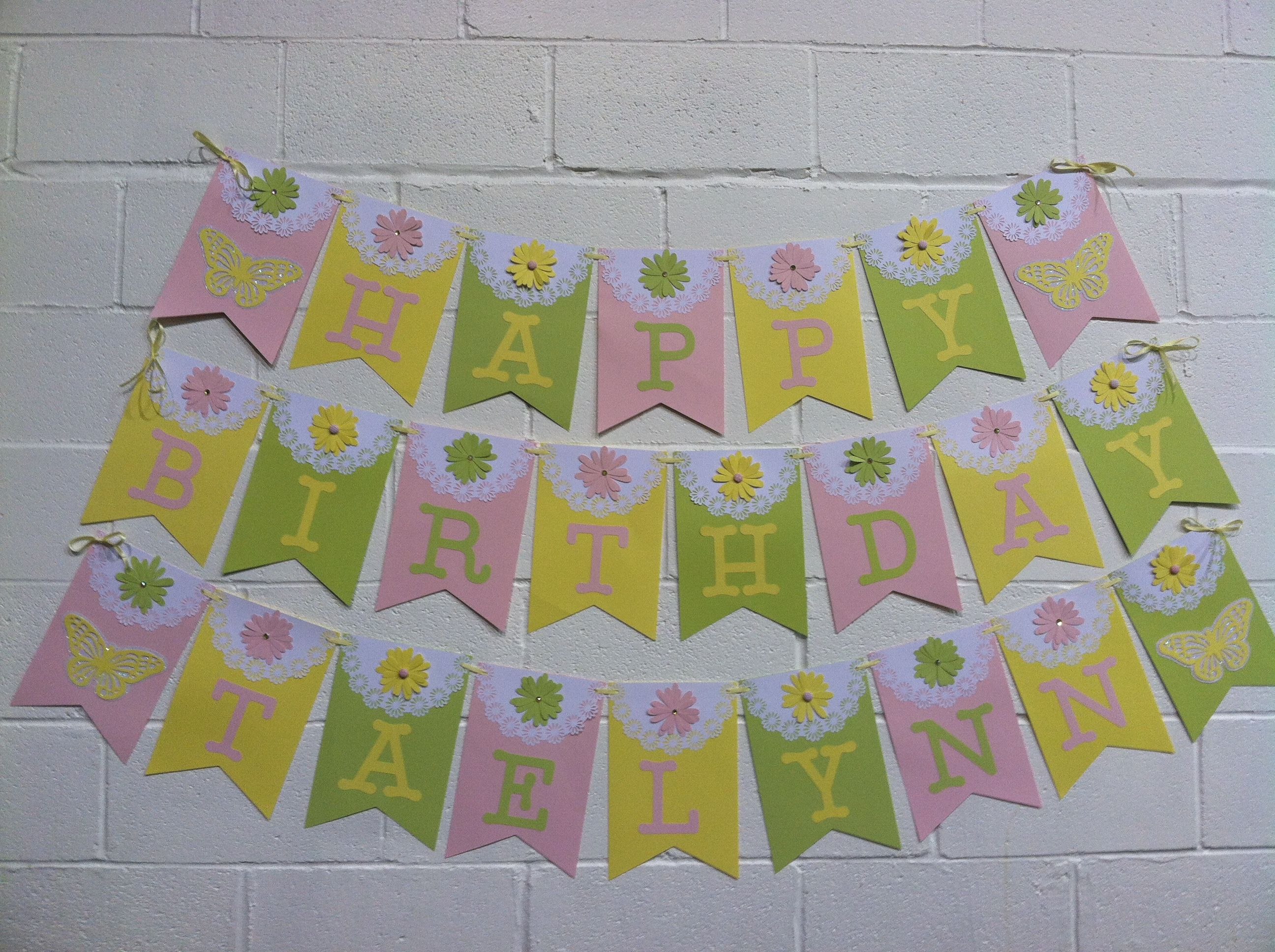 Cricut birthday banner cricut crafts Pinterest