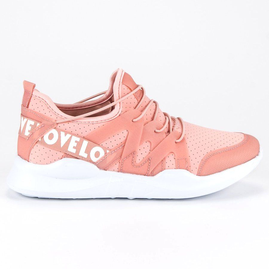 Modne Buty Sportowe Biale Rozowe Shoes Sneakers Fashion