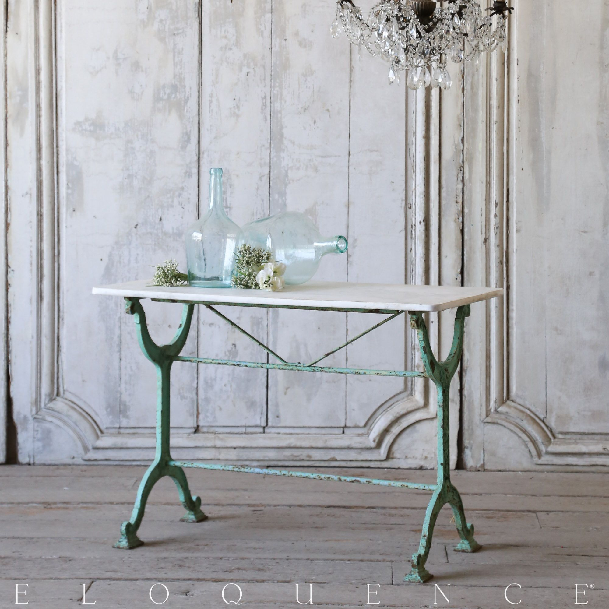 Eloquence, Inc. Antique Bistro Table Charming antique Iron base ...