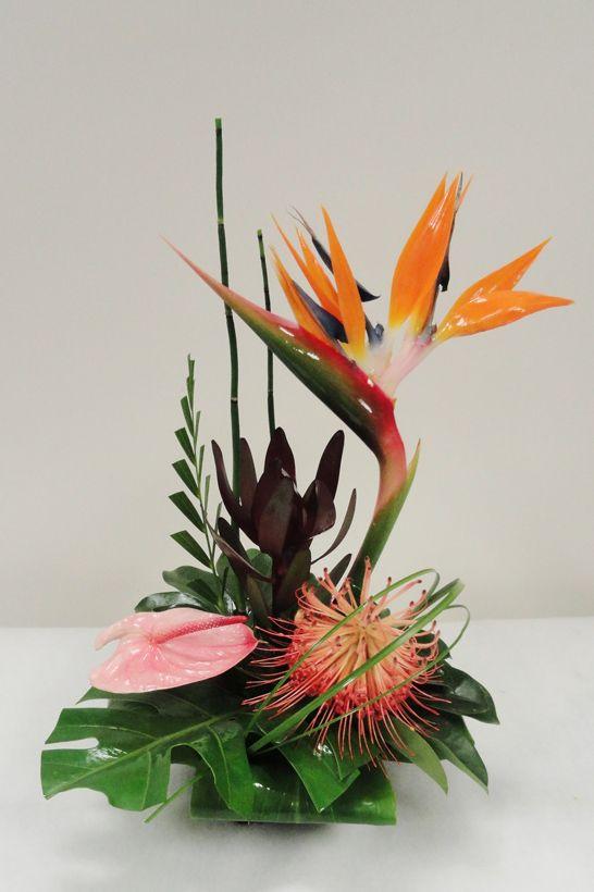 Exotic Flower Arrangements | small tropical arrangement small ...