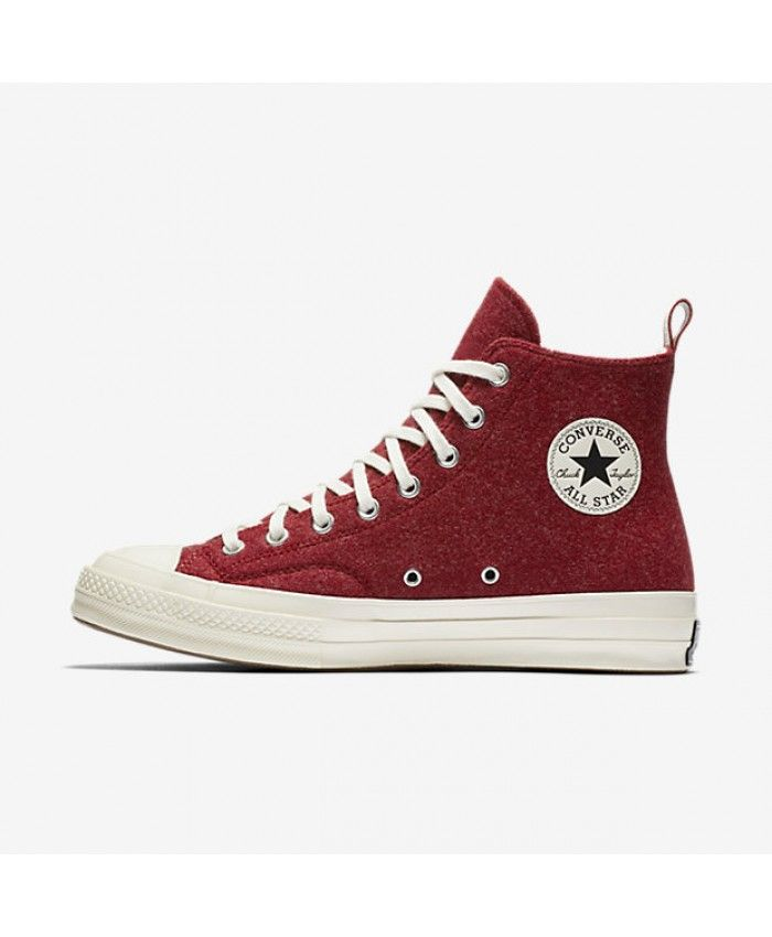 6325757865d4f9 Converse Chuck 70 Felt High Top Terra Red 157482C-278