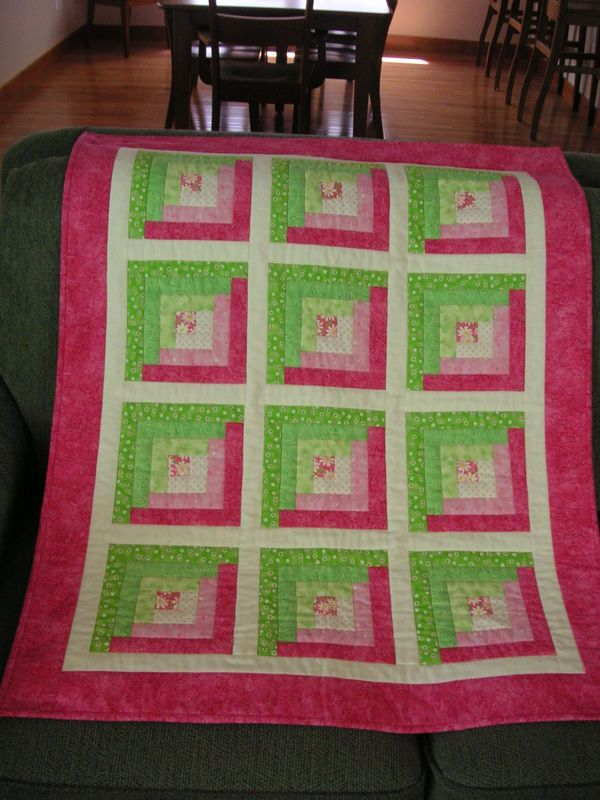 Baby Quilt Finished Log Cabin Quilt Pattern Quilts Baby Quilt Pattern