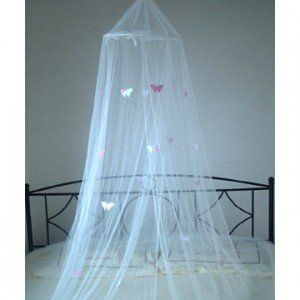 Mosquito Nets 4 U -White Bed Canopy / Mosquito Net with Pink Butterflies Home and  sc 1 st  Pinterest & Mosquito Nets 4 U -White Bed Canopy / Mosquito Net with Pink ...