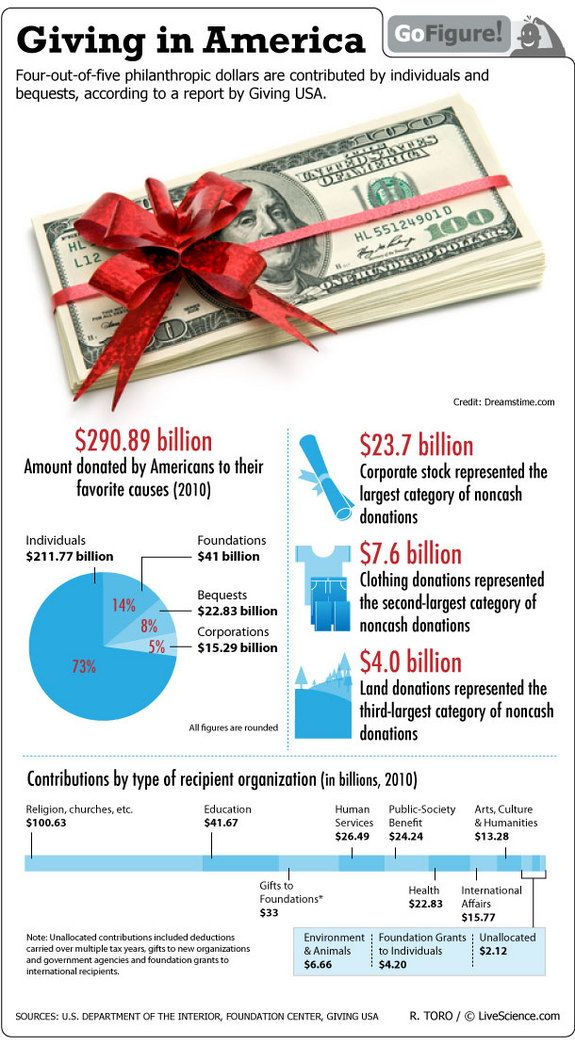 Who Donates To Charity Infographic With Images Infographic