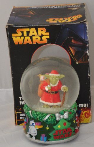 ee7d063959de8 Star Wars Jugez Moi JugezMoi Musical Holiday Waterball Yoda as Santa Claus     See this great product. (This is an affiliate link)  CollectibleFigurines