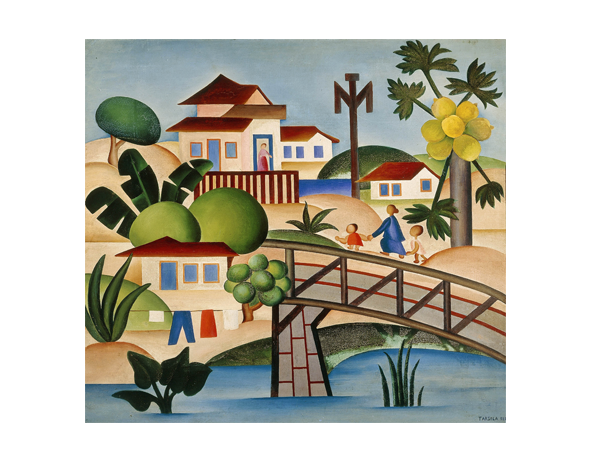 O Mamoeiro - Tarsila do Amaral ( 1925) - Museu de Artes Visuais do Instituto de Estudos Brasileiros - USP
