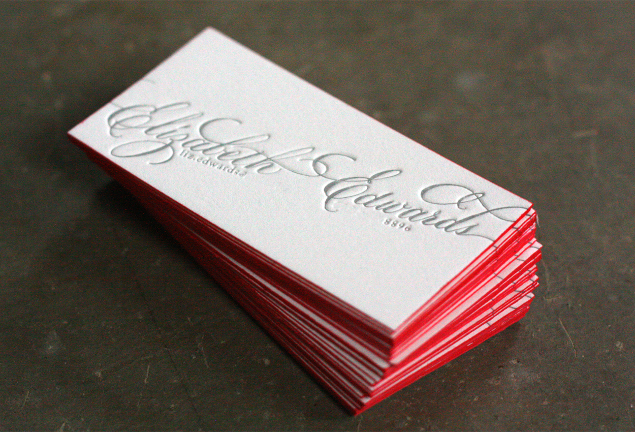 40 premium thick edge business cards for your inspiration must letterpress calling card do not like the red around the edges would like in soft gold but like the simplicity of this card and the thickness reheart Gallery